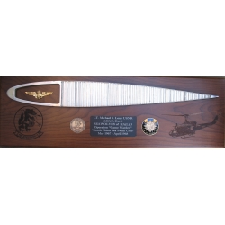 Huey Rotor Blade with 2 Images Plaque