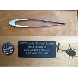 OH-6 Rotor Blade with 1 Image Plaque